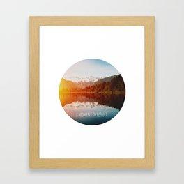 A moment to reflect [Lake Matheson] Framed Art Print
