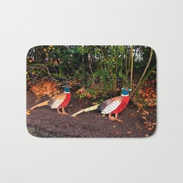 Two Pheasants On The Sidelines Bath Mat