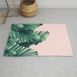 Blush Banana Leaves Dream #3 #tropical #decor #art #society6 Rug
