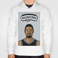 tim shumate Hoodies featuring Tim Duncan by Will Wild