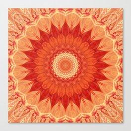 Mandala orange red Canvas Print