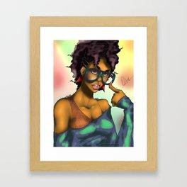 80's Chick Framed Art Print