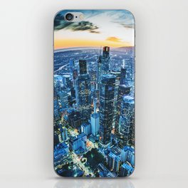 los angeles downtown iPhone Skin
