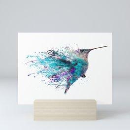 HUMMING BIRD SPLASH Mini Art Print