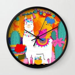 Fiesta Llama Wall Clock