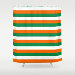 ireland ivory coast miami niger flag stripes Shower Curtain