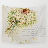 wedding Wall Tapestries featuring Wedding Bells by Lucia
