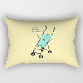 Angry stroller Rectangular Pillow