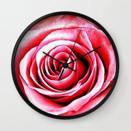 Rose Canvas Wall Clock