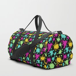 Colorful Paint Splatter Pattern Duffle Bag