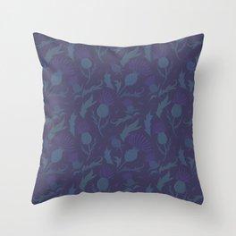 Purple Thistle Throw Pillow
