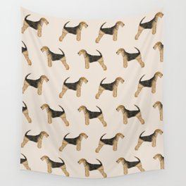 Airedale Terrier pattern dog breed cute custom dog pattern gifts for dog lovers Wall Tapestry