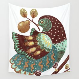 A Partridge In A Pear Tree II Wall Tapestry