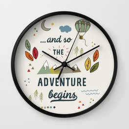 ...and so the adventure begins Wall Clock