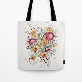 Fall Protea Bouquet Tote Bag