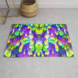 Colorful digital art splashing G392 Rug