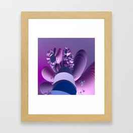 Abstract cactus blooming Framed Art Print