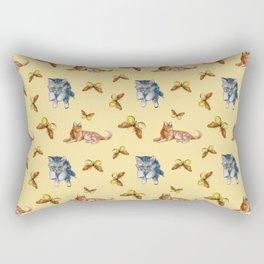 Cats and Butterflies Rectangular Pillow