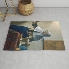 Johannes Vermeer - Woman with a Water Jug Rug