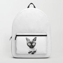 Funny alien cat Backpack