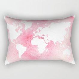 Pink world map Rectangular Pillow