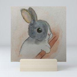 Sad Bunny Mini Art Print