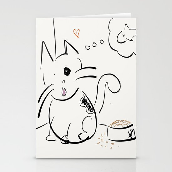 Cat food? Stationery Cards