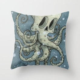 Nasty octopus Throw Pillow