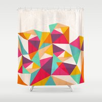 diamond Shower Curtains featuring Diamond by Kakel