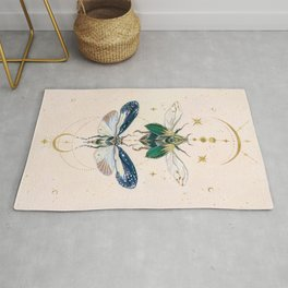 Moon insects Rug