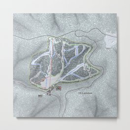 Mt Lemmon Resort Trail Map Metal Print
