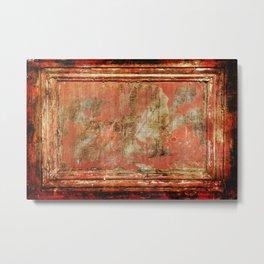 Red Panel Metal Print