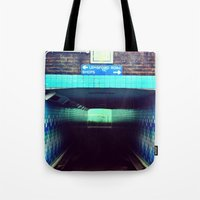 subway Tote Bags featuring Subway by Efua Boakye