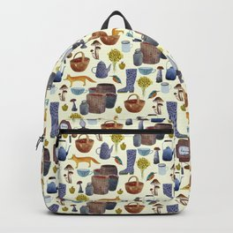 Countryside pattern. Backpack