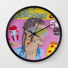 Delicious Haircuts Wall Clock