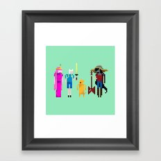 Adventure Time Gang Framed Art Print
