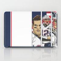 patriots iPad Cases featuring Brady Champion Super Bowl XLIX  by Akyanyme