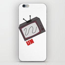 Funny Sarcastic Novelty Unplug Tshirt Design Unplug tv iPhone Skin