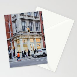 Corner street in Soho New York, USA | Architecture photography | Streets of New York City | Fine art wanderlust Stationery Cards