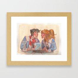 Learning together Framed Art Print