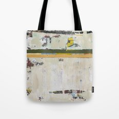 Chariot White Abstract Modern Painting Art Tote Bag
