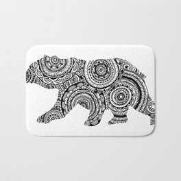 Mandala Bear Bath Mat