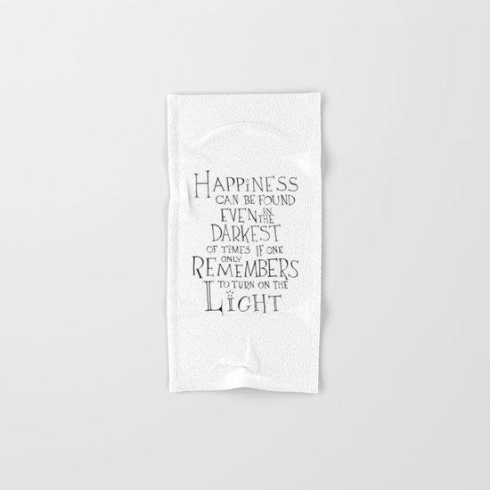 "Harry Potter - Albus Dumbledore quote ""Happiness"" Hand & Bath Towel"