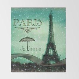 Paris... Je t'aime Throw Blanket