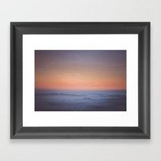 Evening pulse rate Framed Art Print