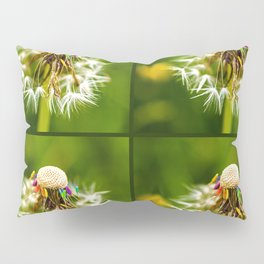 Rainbow dandelion seeds Pillow Sham