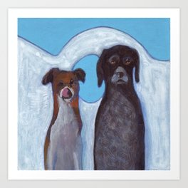 Dogs in Greece Art Print