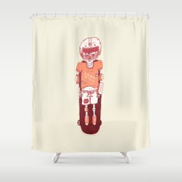 It's All Going Downhill From Here Shower Curtain