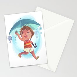 Snow Umbrella Stationery Cards