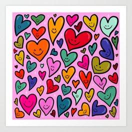 Smiling Heart Print Art Print